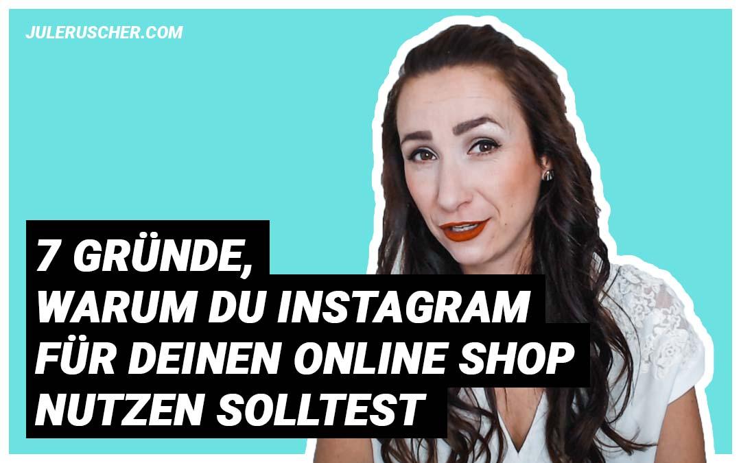 Instagram für deinen Online Shop Titel