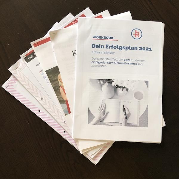 Workbooks Jahresplanung